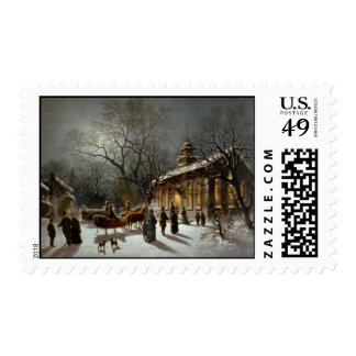Vintage Christmas Eve scene Stamps