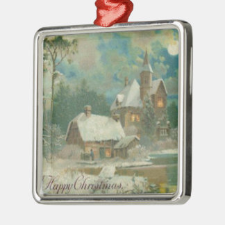 Vintage Christmas Eve Wintery Night Ornaments
