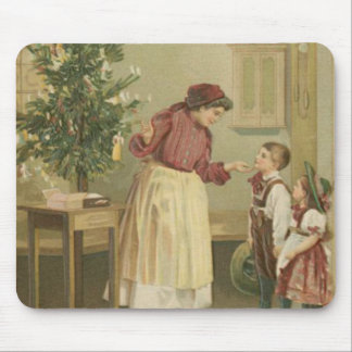 Vintage Christmas Family Mouse Pad