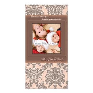 Vintage christmas family photocard card