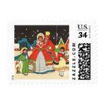 Vintage Christmas, Family Singing Carols Postage Stamps
