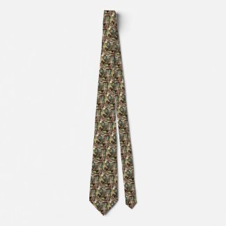 Vintage Christmas, Family Wrapping Presents Tie