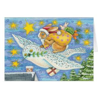 Vintage Christmas Fantasy Christmas Card