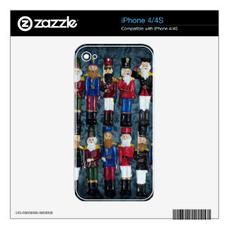 Vintage Christmas Figures iPhone 4 Decal