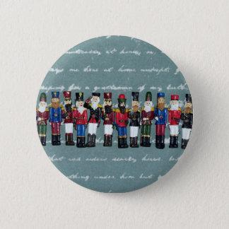 Vintage Christmas Figures Pinback Button