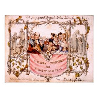 Vintage Christmas, First ever Christmas card 1843