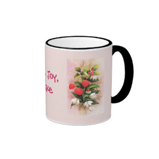 Vintage Christmas Flowers and berries Mug