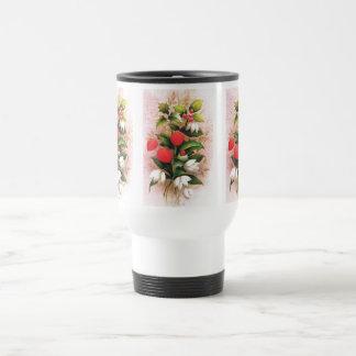 Vintage Christmas Flowers and berries Coffee Mugs