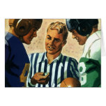 Vintage Christmas, Football Referee Coin Toss Greeting Card