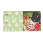 """Vintage Christmas Gift Labels<br><div class=""""desc"""">Retro Snowman Christmas gift labels! Self stick and in different sizes!</div>"""