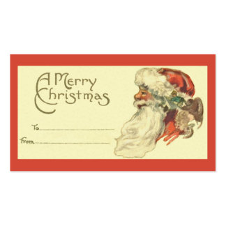 Vintage Christmas Gift Tag Double-Sided Standard Business Cards (Pack Of 100)