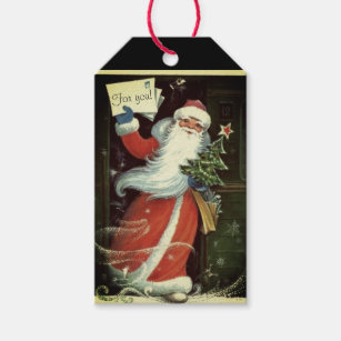 funny vintage christmas gift tags gift enclosures zazzle