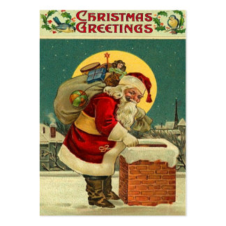 Vintage Christmas Gift Tags Large Business Cards (Pack Of 100)