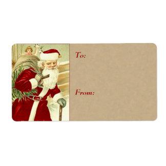 Vintage Christmas Gift Tags - Large