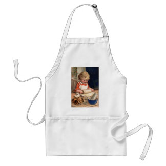 Vintage Christmas - Girl Baking Cookies Adult Apron