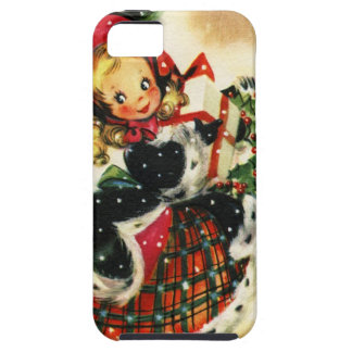 Vintage Christmas Girl iPhone 5 Case