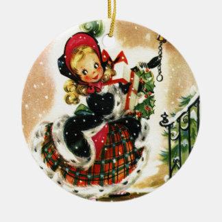 Vintage Christmas Girl Christmas Tree Ornaments