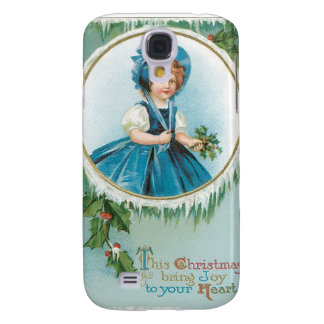 Vintage Christmas Girl Galaxy S4 Cover