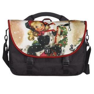 Vintage Christmas Girl Bag For Laptop