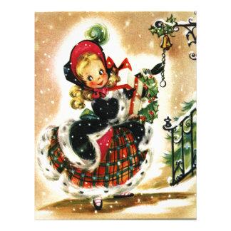Vintage Christmas Girl Letterhead