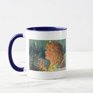 Vintage Christmas Girl Mug
