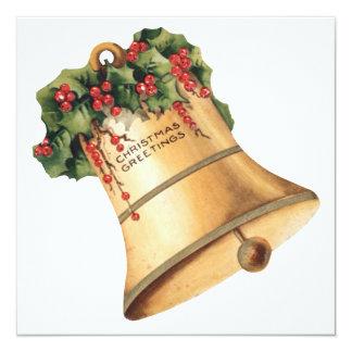 Vintage Christmas Golden Bells, Season's Greetings Card
