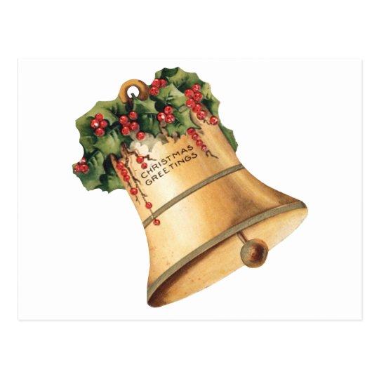 Vintage Christmas Golden Bells, Season's Greetings Postcard
