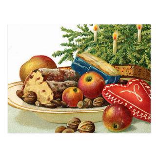 Vintage Christmas Goodies Postcard
