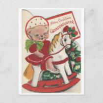 Vintage Christmas Granddaughter Card