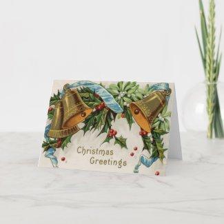 Vintage Christmas Greeting Card card