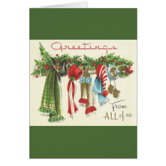 Vintage Christmas Greeting Card From All Of US