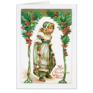 Vintage Christmas Greetings Card