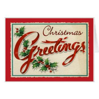 Vintage Christmas Greetings Card