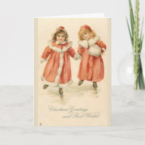 Vintage Christmas Greetings for a Friend, Card