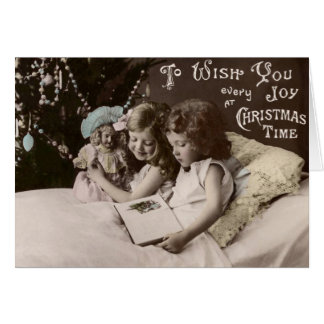 Vintage Christmas Greetings Happy New Year Card