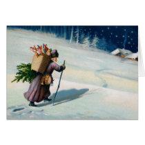 Vintage Christmas Greetings Missing you Card