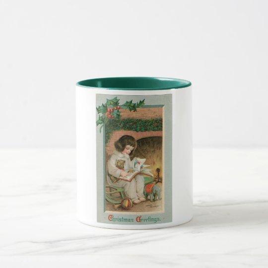 Vintage Christmas Greetings Mug
