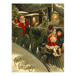 Vintage Christmas Greetings Postcard