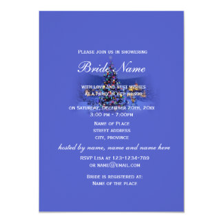 Vintage Christmas, holiday bridal shower party 4.5x6.25 Paper Invitation Card