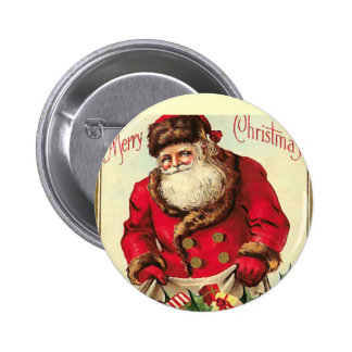 Vintage  Christmas Holiday 2 Inch Round Button