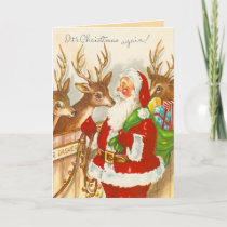 Vintage Christmas Holiday Card