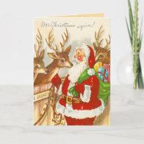 Vintage Christmas Holiday Card