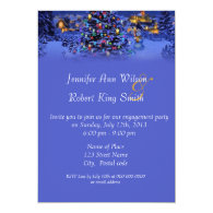 Vintage Christmas, holiday engagement party Personalized   Invites