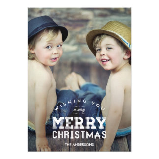 Vintage Christmas Holiday Photo Cards Announcements