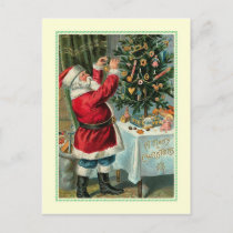 Vintage Christmas Holiday Postcard
