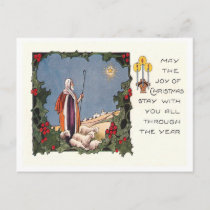 Vintage Christmas Holiday Postcard