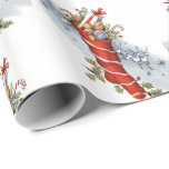 Vintage Christmas Holiday stocking party wrap Wrapping Paper