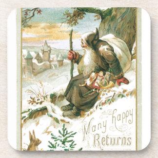 Vintage Christmas Holidays Nostalgia Children Coaster