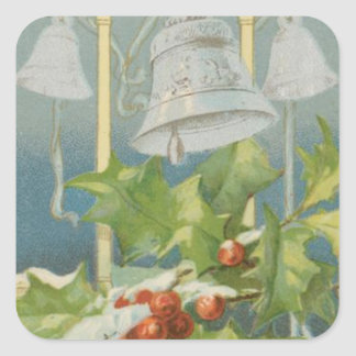 Vintage Christmas Holly and Bells Sticker