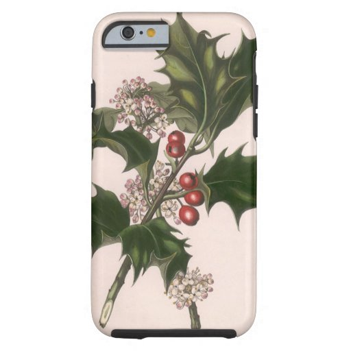 Vintage Christmas, Holly and Berries iPhone 6 Case